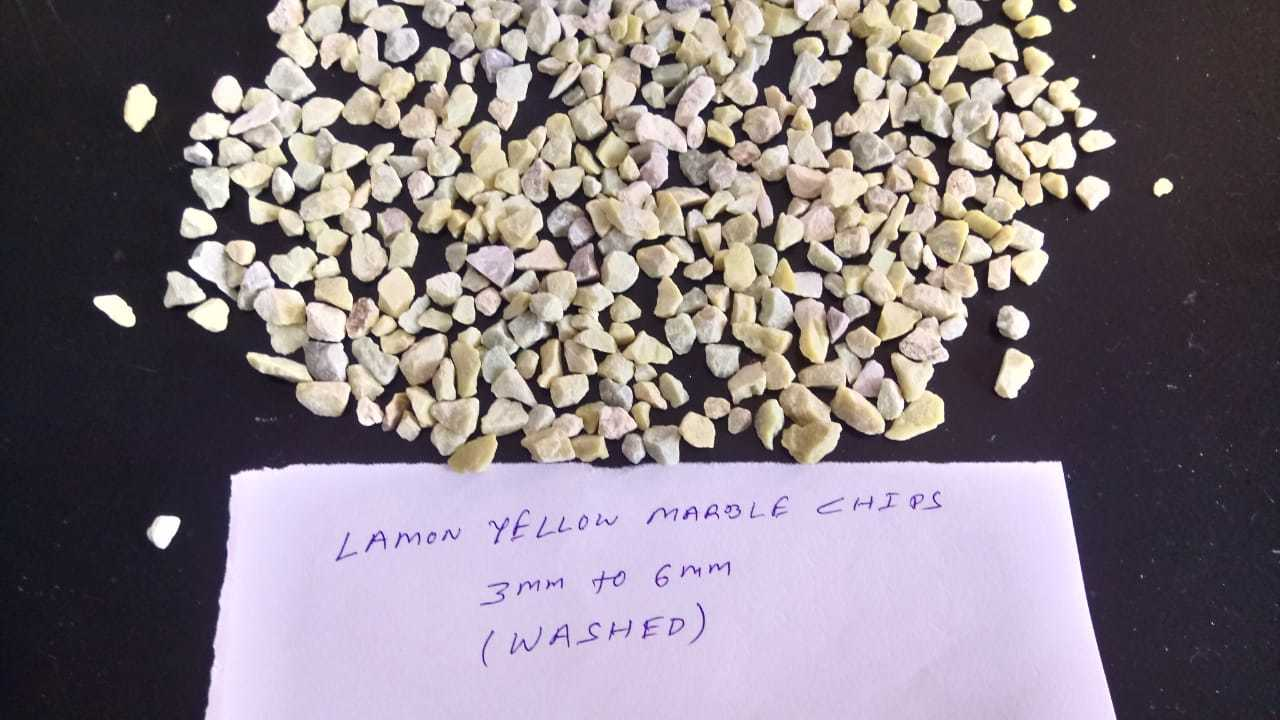 Terrazzo flooring For Lemon Yellow Crushed Marble Aggregate And Chips
