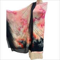 Ladies Zanish Crepe Unstitched Print Suit Fabrics