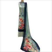 Crepe Unstitched Print Suit Fabrics