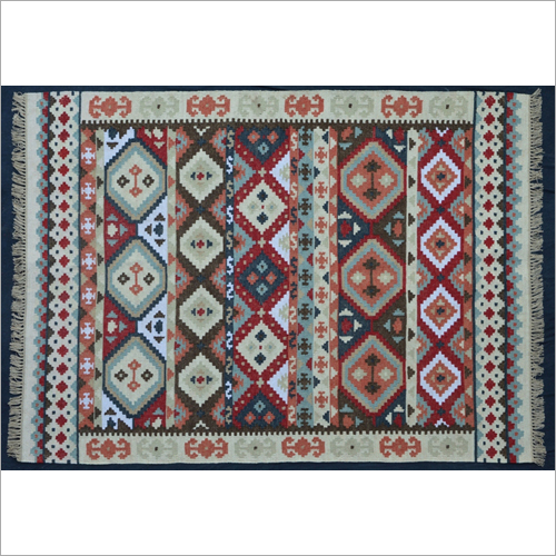Hand Woven Polyester Flat Weave Kilim