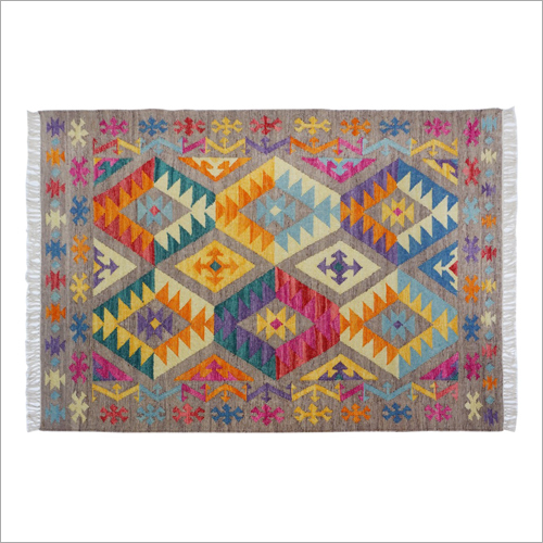 Hand Woven Woolen Flat Weave Kilim