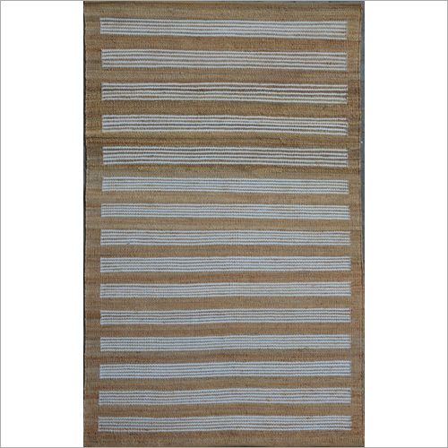 Hand Woven Jute And Polyester Flat Weave Rug
