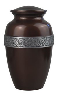 Brown With Silver Urn