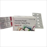 Gloxetil 200 Cefpodoxime Proxetil Dispersible Tablets 200mg