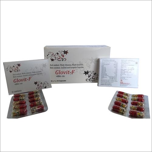 Glovit - F Antioxidant, multivitamin, multimineral, beta carotene ,inositol & lycopene capsules
