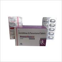 Powerflam Aceclofenac & Paracetamol Tablets