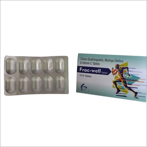 Frac-well cissus quadrangularis,moringa oleifera,vitamin c tablets