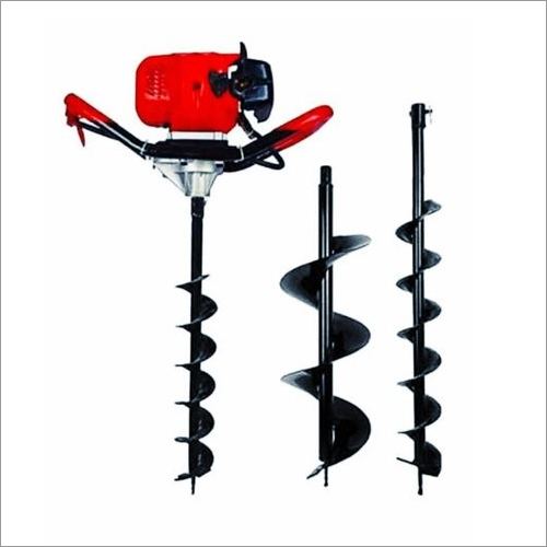 Earth Auger 63 CC Engine With 2.5 Inch And 6 Inch Drill