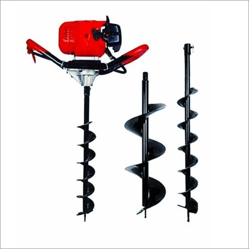 Earth Auger 63 CC Engine With 4 Inch And 8 Inch Drill