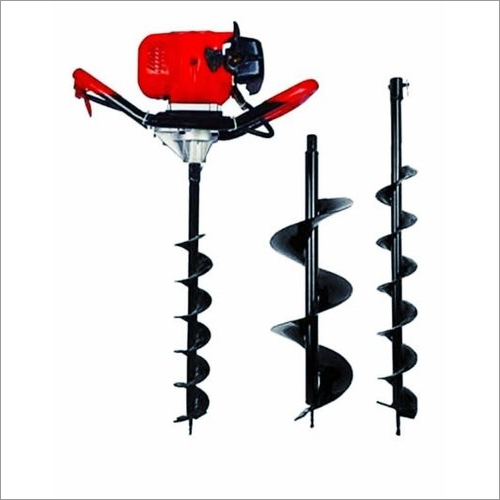Earth Auger 63 CC Engine With 4 Inch And 12 Inch Drill