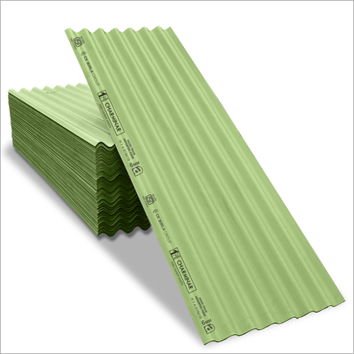 Coloured Fibre Cement Roofing Sheets-Green