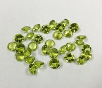 7mm Peridot Faceted Round Loose Gemstones