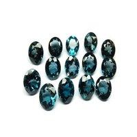 5mm London Blue Topaz Faceted Round Loose Gemstones