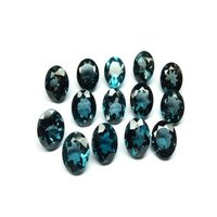 8mm London Blue Topaz Faceted Round Loose Gemstones