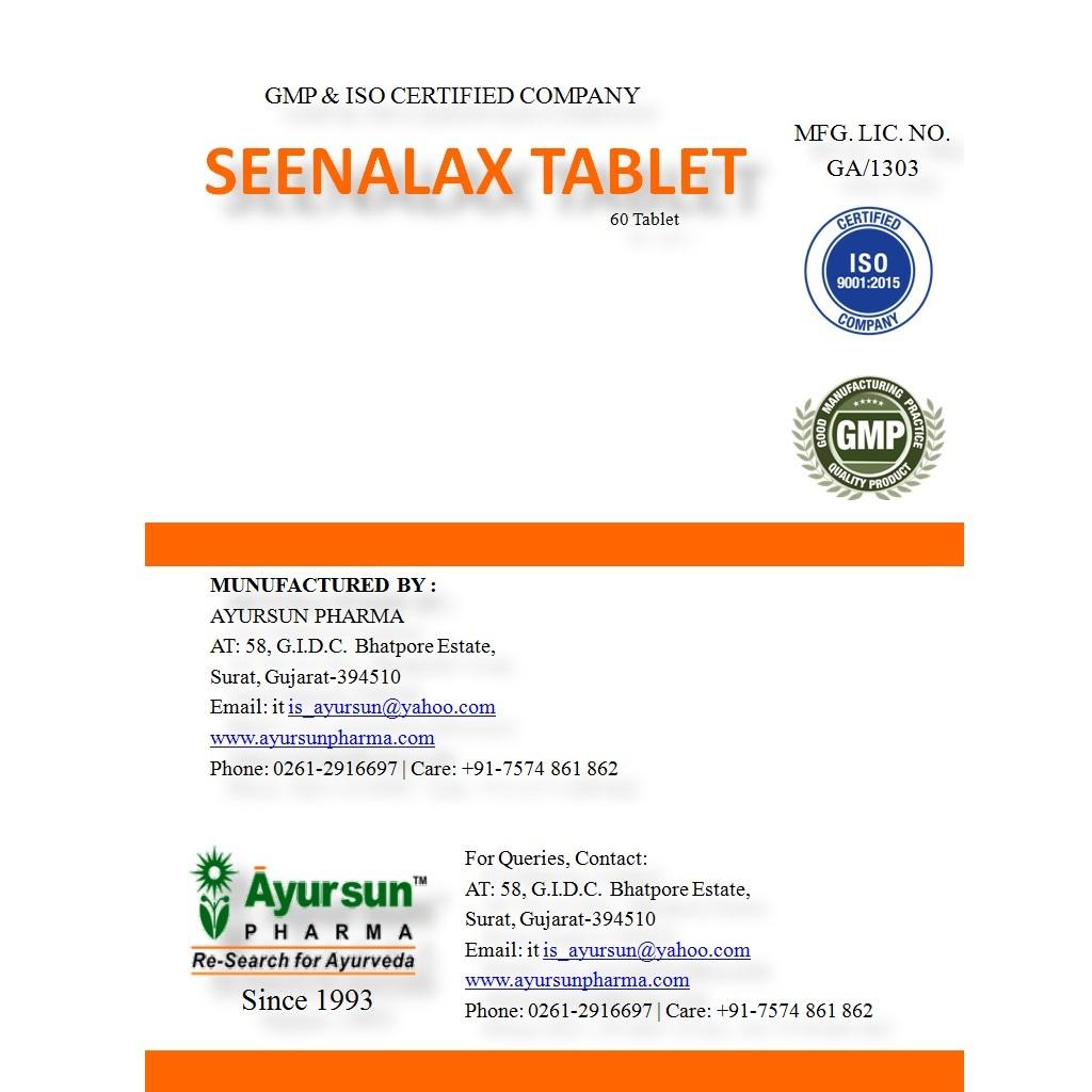 Ayurvedic Ayursun Medicine For Habitual Constipation-seenalax Tablet