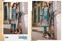 Shree Fabs Firdous Exclusive collection Vol 14 Lawn Cotton Pakistani Suit Catalog
