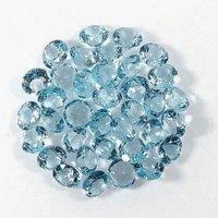 8mm Sky Blue Topaz Faceted Round Loose Gemstones