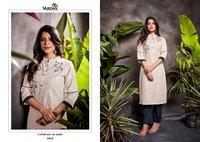 Vardan Designer Spark Vol 3 Heavy South Cotton Kurti With Bottom Catalog