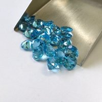 6mm Swiss Blue Topaz Faceted Round Loose Gemstones