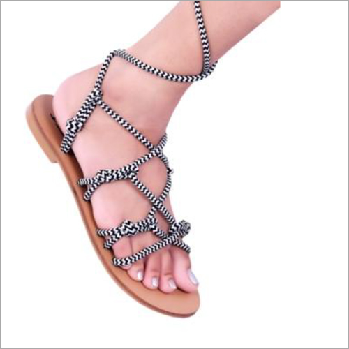 Womens Black Leather Sandals