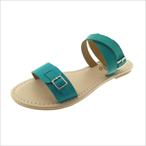 Womens Turqouise Leather Sandals