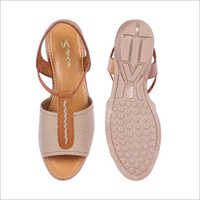 Womens Cream Burnish Leather Sandals