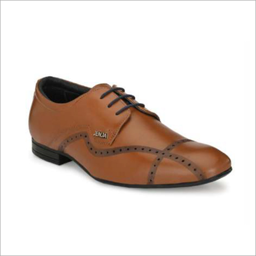 Mens Tan Leather Formal Shoes