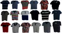 Men Round NEck Self T-shirt