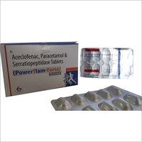 Powerflam Forte - ACECLOFENAC + PARACETAMOL + SERRATIOPEPTIDASE Tablets