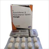 Paceglo- Aceclofenac & Paracetamol Tablets