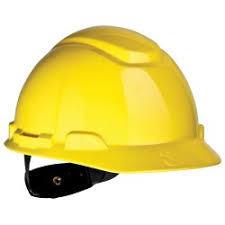 3M H-702R Safety Helmet, Yellow 4-Point Ratchet Suspension