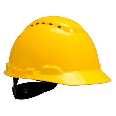 3M H-702V Safety helmet, Vented Yellow 4-Point Ratchet Suspension