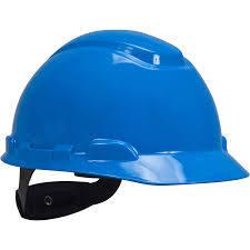 3M H-703R Safety helmet, Blue 4-Point Ratchet Suspension