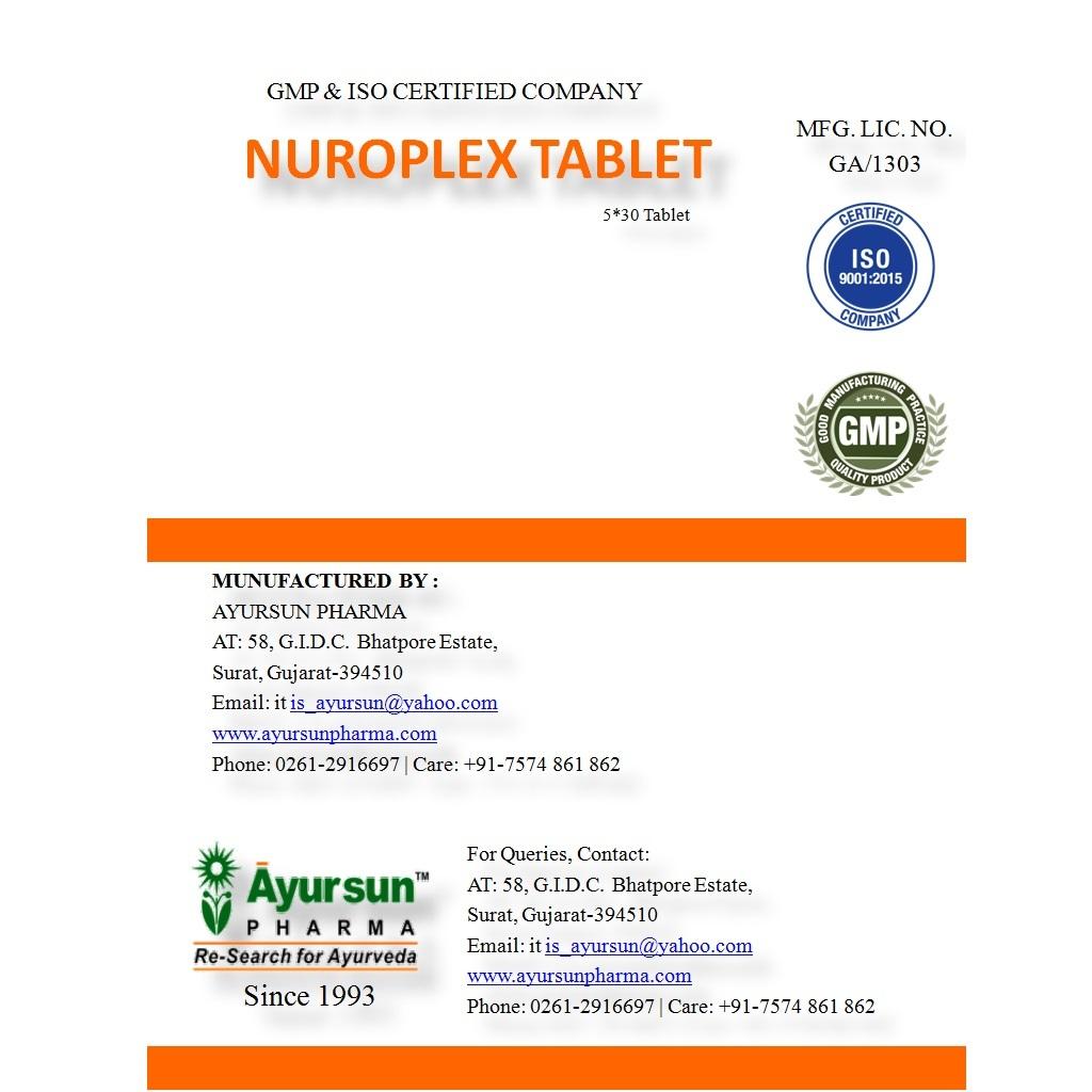Nuroplex Tablet (Neurological Disorder Drug)
