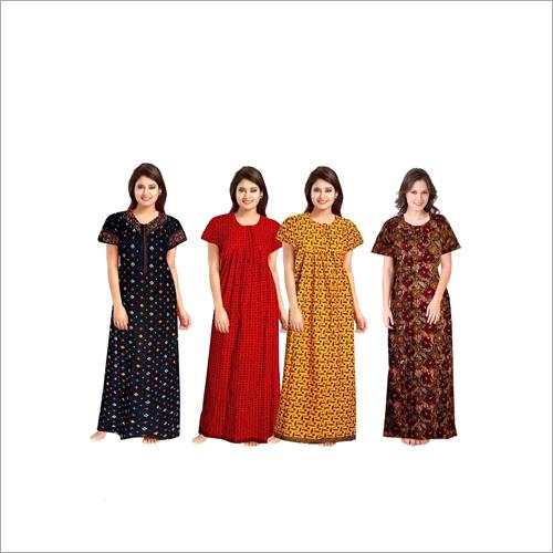 Ladies Printed Cotton Nighty