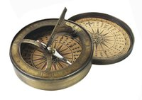Antique Sundial Compass with Lid 3 Inch Collectible Compass