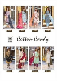 Cotton Candy Designer Rayon & Cotton Print With ,thread Work Kurtis