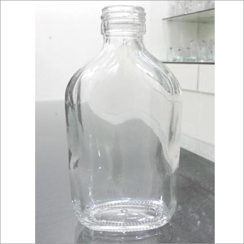 205 Ml Flat Generic Empty Glass Bottle