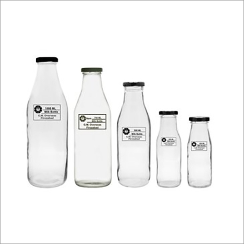 Milk Empty Glass Bottles