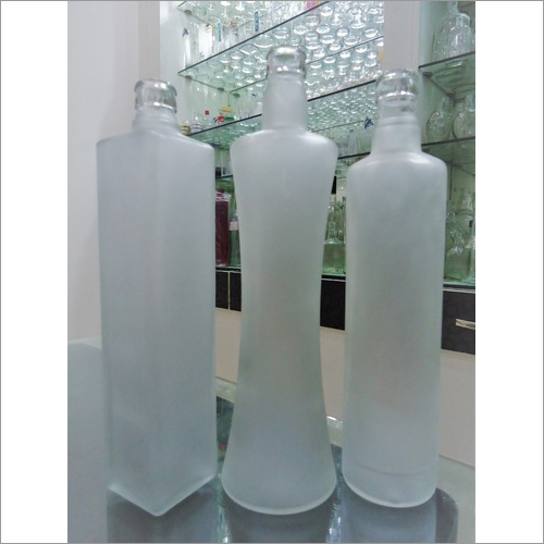 Frosted Empty Glass Bottles