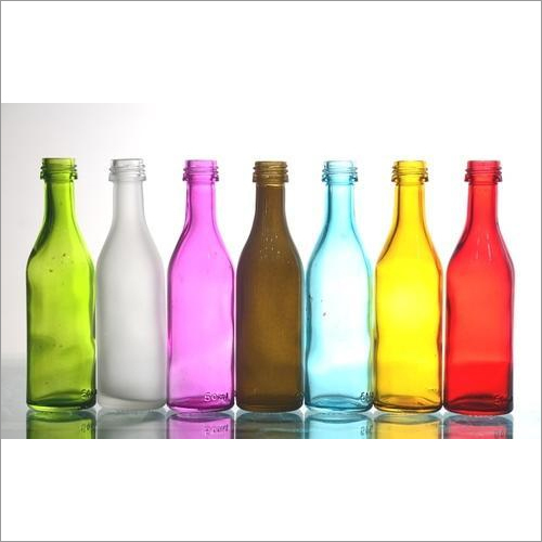 Color Coated Empty Glass Bottles