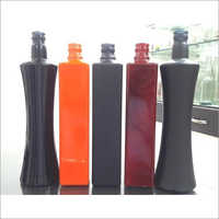 Color Coated Empty Glass Bottles Opaque