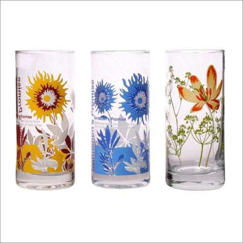 Printed Fancy Glass Tumblers