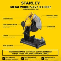 STANLEY SSC22-IN Chop Saw Machine 2200w 355mm