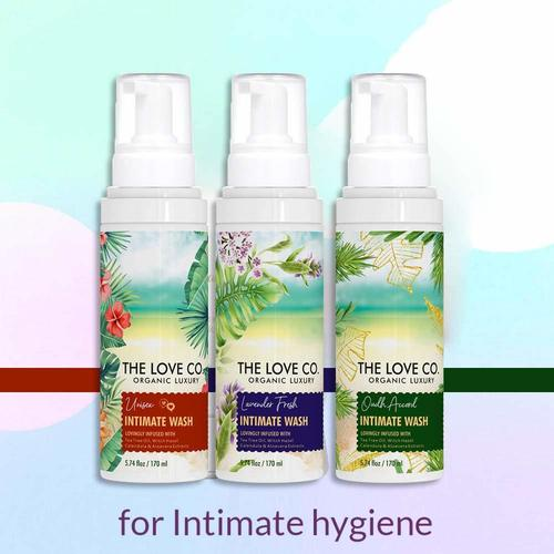 THE LOVE CO. Intimate Foam Wash for Women, rich in Aloe & Lavender Oil with Natural Calendula Witch Hazel Extracts Dermatologist Tested, pH Balanced 120 ml