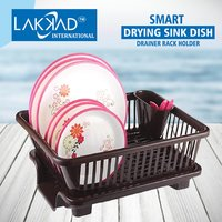 3 In 1 Kitchen Sink Dish Rack Drainer Drying Rack Washing Basket With Tray