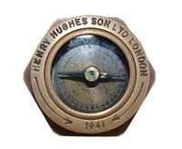 1941 Antique Royal Navy Flat Compass Nautical Marine Gift