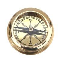 Marine Ship Brass Flat Compass 2 Inch