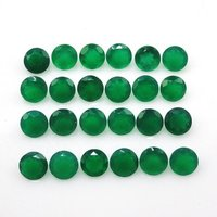4mm Green Onyx Faceted Round Loose Gemstones