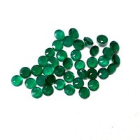 5mm Green Onyx Faceted Round Loose Gemstones